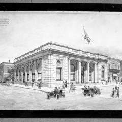 A drawing of the building when it was the Bank of Eureka, date unknown.